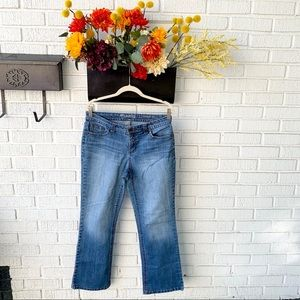 New Directions Bootcut Jean With Rhinestone Pocket